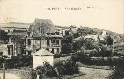 """/ CPA FRANCE 76 """"Puys, vue générale"""""""