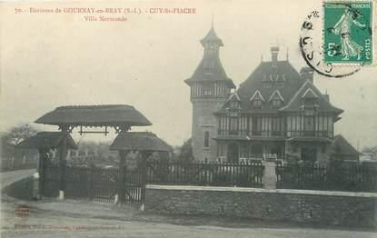 """/ CPA FRANCE 76 """"Cuy Siant Fiacre, villa Normande"""""""