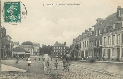 """/ CPA FRANCE 76 """"Buchy, route de Forges Les Eaux"""""""