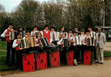 """CPSM FRANCE 63 """"Société des accordéonistes Issoiriens"""""""