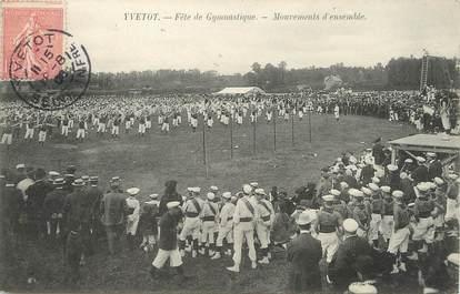 "/ CPA FRANCE 76 ""Yvetot, fête de Gymnastique"""