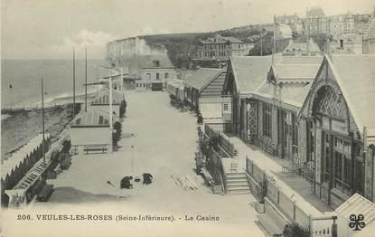 "/ CPA FRANCE 76 ""Veules Les Roses, le casino"""