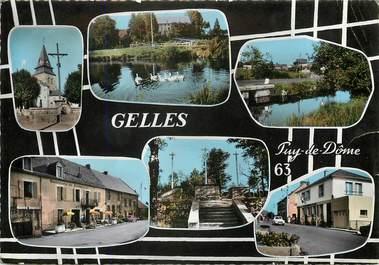 """CPSM FRANCE 63 """"Gelles"""" / Vue du département"""