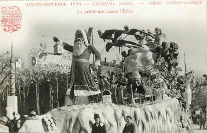 "CPA FRANCE 13 ""Aix en Provence, Carnaval 1934"" / PÈRE NOEL"