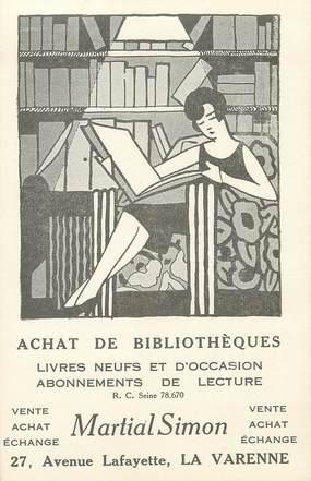 """/ CPA FRANCE 94 """"La Varenne"""" / LIVRES / CARTE PUBLICITAIRE"""