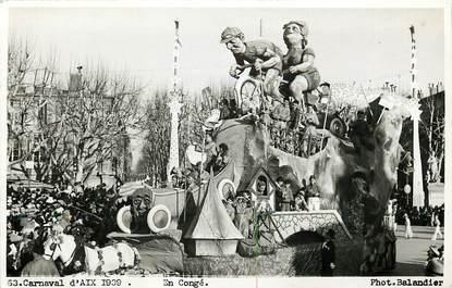 "CPA FRANCE 13 ""Aix en Provence, Carnaval 1939"" / CYCLISME"