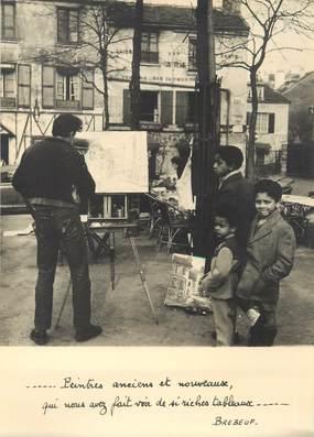 """/ CPSM FRANCE 75018 """"Paris, la leçon de peinture à Montmartre"""""""