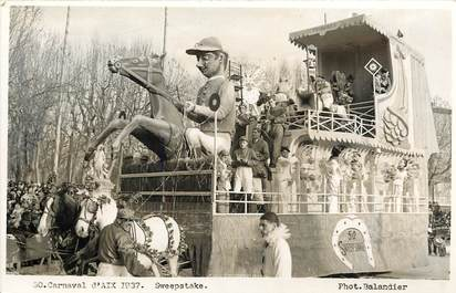 "CPA FRANCE 13 ""Aix en Provence, Carnaval 1937"" / CHEVAL"