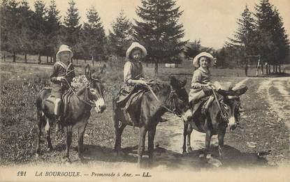 """/ CPA FRANCE 63 """"La Bourboule, promenade à Âne"""" / ENFANTS"""