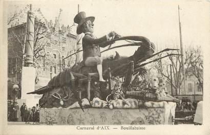 """CPA FRANCE 13 """"Aix en Provence, Carnaval, bouillabaisse"""""""