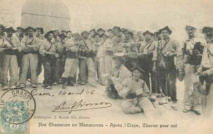 """CPA CHASSEUR ALPIN """"Chasseurs en manoeuvres """""""