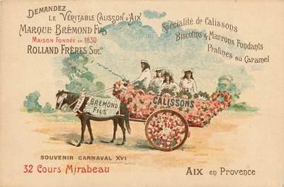 "CPA FRANCE 13 ""Aix en Provence, Carnaval"" / ATTELAGE"