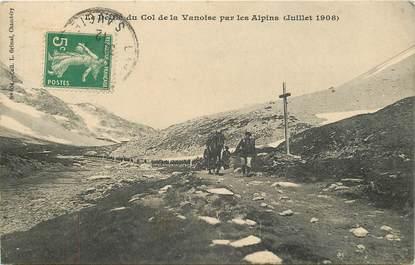 """CPA CHASSEUR ALPIN """" Le Défilé du Col de la Vanoise par les Alpins"""""""