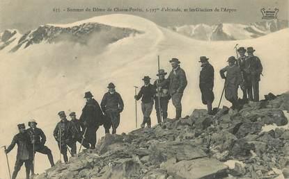 """CPA  CHASSEUR ALPIN """" Sommet du Dôme de Chasse Forêts"""""""