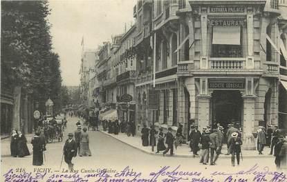 """CPA FRANCE 03 """"Vichy, Rue Cunin Gridaine"""" / BANQUE SOCIÉTÉ GENERALE"""