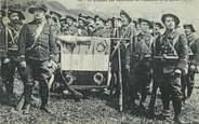 """Militaire CPA  CHASSEUR ALPIN """" le Drapeau des Bataillons de chasseurs et sa garde"""""""