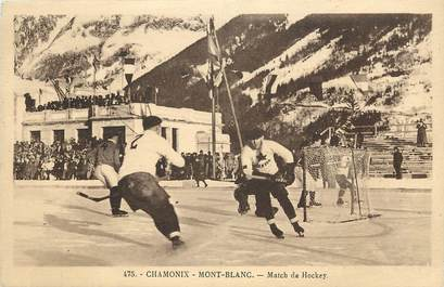 "CPA FRANCE 74 ""Chamonix Mont Blanc, Match de Hockey"""
