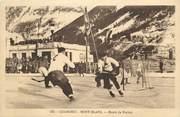 "74 Haute Savoie CPA FRANCE 74 ""Chamonix Mont Blanc, Match de Hockey"""