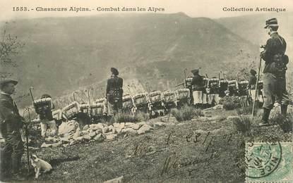 """CPA  CHASSEUR ALPIN """" Combat dans les Alpes"""""""