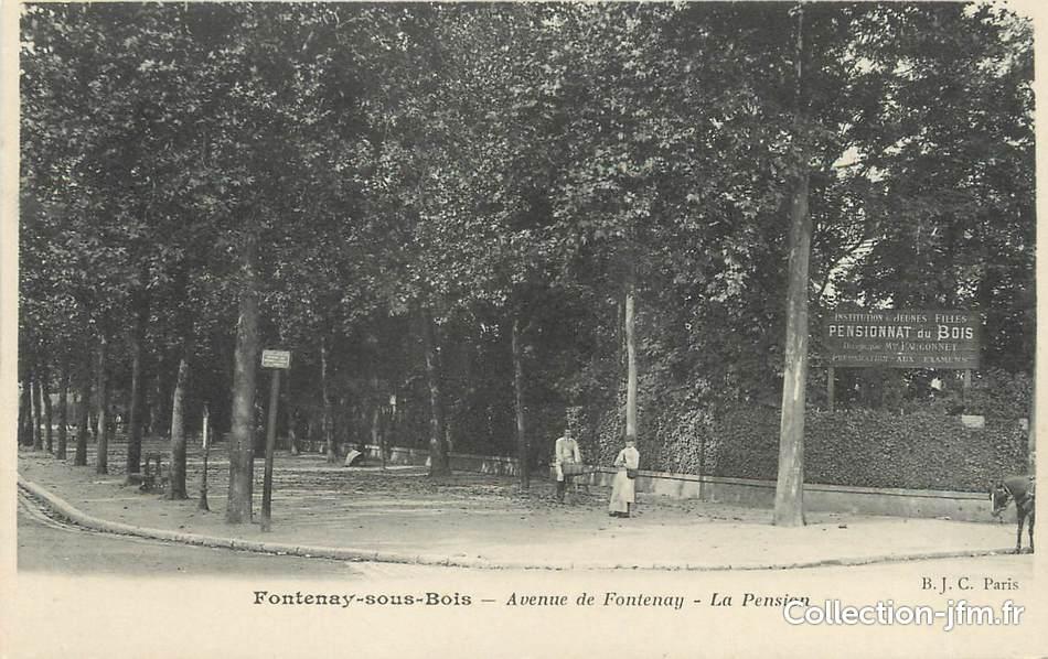 "CPA FRANCE 94""Fontenay sous Bois, av de Fontenay, La Pension"" 94 val de marne fontenay  # France Pare Brise Fontenay Sous Bois"