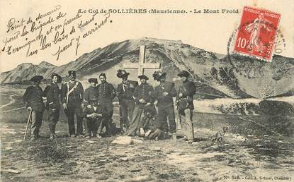 """CPA  CHASSEUR ALPIN """" Le Col de Sollières, le Mont Froid"""""""