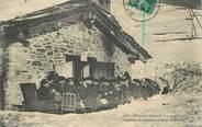 """Militaire CPA  CHASSEUR ALPIN """" Déjeuner des officiers au poste de Sollières"""""""