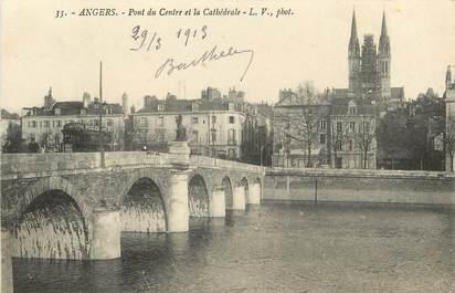 """CPA FRANCE 49 """"Angers, pont du centre et la cathédrale"""""""