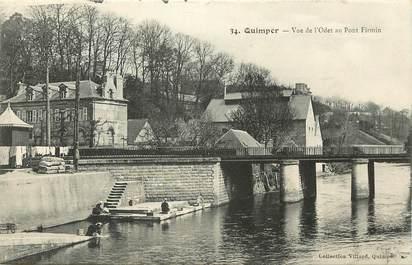 """CPA FRANCE 29 """"Quimper, vue de l'Odet au pont Firmin"""""""