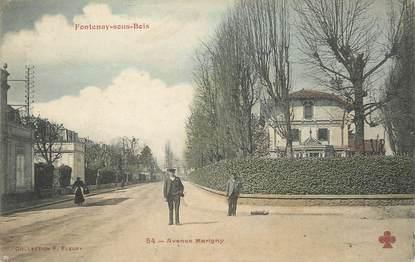"""/ CPA FRANCE 94 """"Fontenay sous Bois, av Marigny"""""""