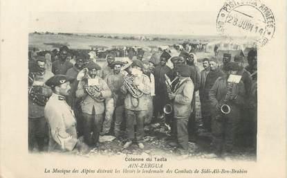"""CPA  CHASSEUR ALPIN """"Ain Zergua, musique"""" / MAROC"""