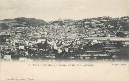 """/ CPA FRANCE 38 """"Vues générales de Vienne et de Sainte Colombe"""""""