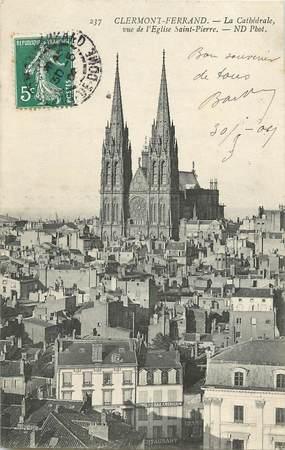 """CPA FRANCE 63 """"Clermont Ferrand, la cathédrale vue de l'Eglise Saint Pierre"""""""
