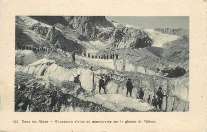 """CPA  CHASSEUR ALPIN """"Le Glacier du Rateau"""""""