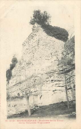 """/ CPA FRANCE 30 """"Sommières, ruines de la tour"""""""