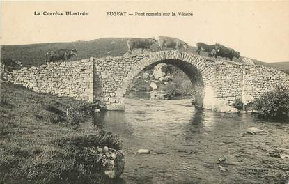 """CPA FRANCE 19 """"Bugeat, pont"""""""