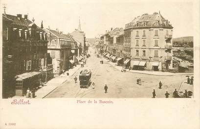 "/ CPA FRANCE 90 ""Belfort, place de la Bascule"" / TRAMWAY"