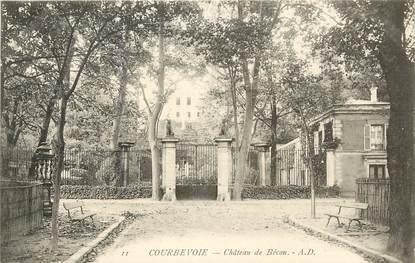 """CPA FRANCE 92 """"Courbevoie, Chateau de Bécon"""""""