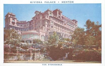 """/ CPA FRANCE 06 """"Menton, Riviera Palace"""""""