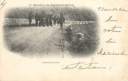 """CPA CHASSEUR ALPIN / Série 11e Bataillon """" Exercice de cadres"""""""