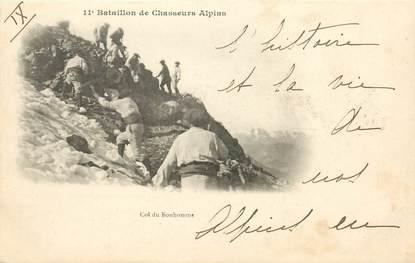 """CPA CHASSEUR ALPIN / Série 11e Bataillon """" Col du Bonhomme"""""""
