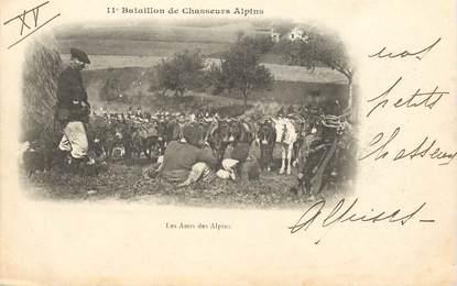 """CPA CHASSEUR ALPIN / Série 11e Bataillon """" Les Amis des Alpins"""""""