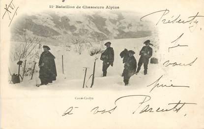 """CPA CHASSEUR ALPIN / Série 11e Bataillon """" Le Casse croute"""""""
