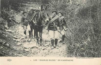 """CPA CHASSEUR ALPIN / Série Les Diables Bleus """"En campagne"""""""