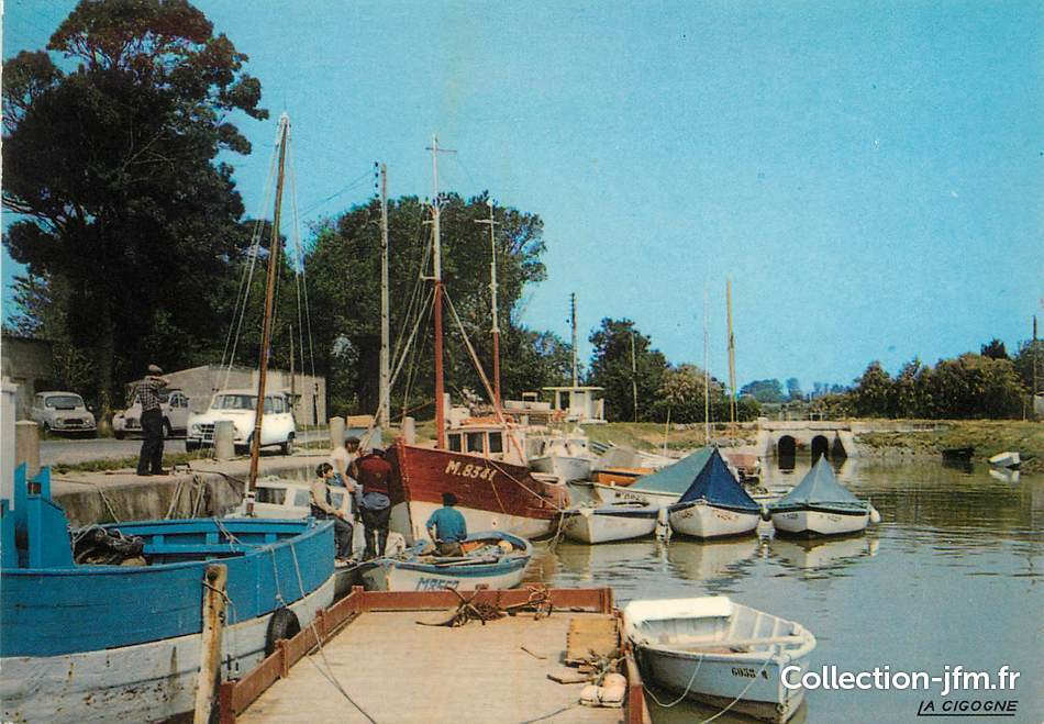 Cpsm france 17 meschers le port bateau 17 - Port de meschers ...