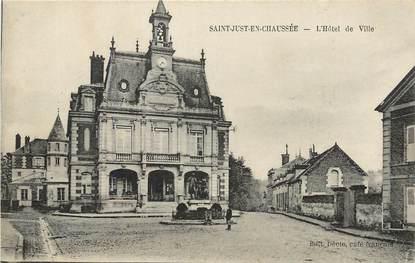 """CPA FRANCE 60 """"Saint Just en Chaussée, L'Hotel de ville"""""""