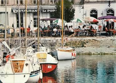 "/ CPSM FRANCE 17 ""Mortagne sur Gironde, restaurant le port"""