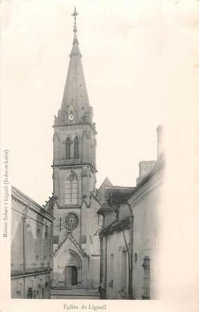 """CPA FRANCE 37 """"Eglise de Ligueil"""""""