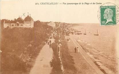 """CPA FRANCE 17 """"Chatelaillon, vue panoramique de la plage et du casino"""""""