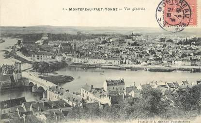"""/  CPA FRANCE 77 """"Montereau Faut Yonne, vue générale"""""""