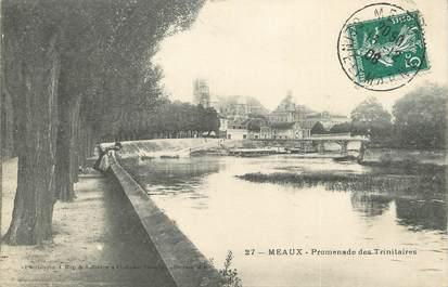 """/  CPA FRANCE 77 """"Meaux, promenade des trinitaires"""""""
